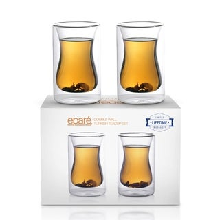 Epar 6 oz. Double-wall Turkish Tea Cup (Set of 2)