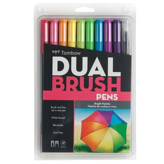Tombow Dual Brush Pens 10/Pkg-Bright