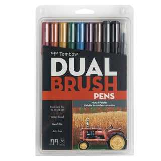 Tombow Dual Brush Pens 10/Pkg-Muted