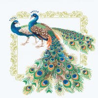 "Peacocks Counted Cross Stitch Kit-18.875""X18.875"" 14 Count"