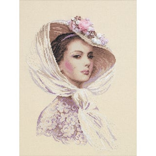 """Lilac Evening Counted Cross Stitch Kit-11.75""""X15.75"""" 14 Count"""