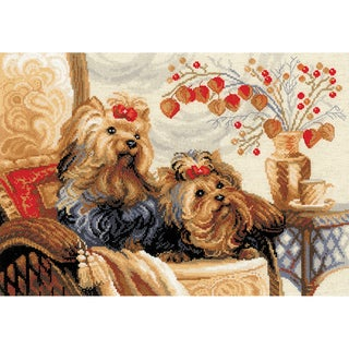 """Pets Counted Cross Stitch Kit-15.75""""X11.75"""" 14 Count"""