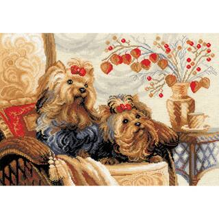 """Pets Counted Cross Stitch Kit-15.75""""X11.75"""" 14 Count
