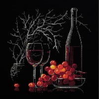 """Still Life With Red Wine Counted Cross Stitch Kit-11.75""""X11.75"""" 14 Count"""