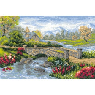 "Summer View Counted Cross Stitch Kit-15""X10.25"" 14 Count"
