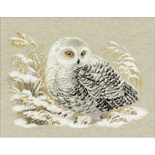 "White Owl Counted Cross Stitch Kit-17.75""X13.75"" 14 Count"