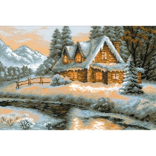 "Winter View Counted Cross Stitch Kit-15""X10.25"" 14 Count"