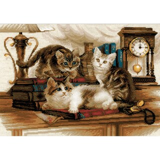 """Furry Friends Counted Cross Stitch Kit-15.75""""X11.75"""" 14 Count"""