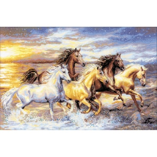 "In The Sunset Counted Cross Stitch Kit-23.625""X15.75"" 14 Count"
