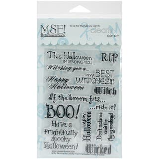 """My Sentiments Exactly Clear Stamps 4""""X6"""" Sheet-Halloween