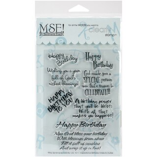"My Sentiments Exactly Clear Stamps 4""X6"" Sheet-Inspirational Birthday
