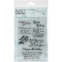 """My Sentiments Exactly Clear Stamps 4""""X6"""" Sheet-Inspirational Birthday"""