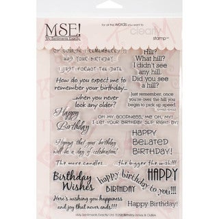 "My Sentiments Exactly Clear Stamps 6""X8"" Sheet-Birthday"