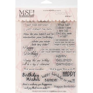 "My Sentiments Exactly Clear Stamps 6""X8"" Sheet-Birthday (Option: Birthday)