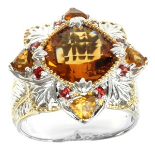 Michael Valitutti Two-tone Citrine and Orange Sapphire Ring