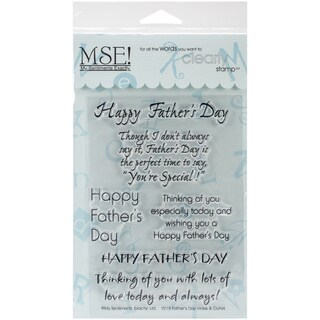 "My Sentiments Exactly Clear Stamps 4""X6"" Sheet-Father's Day"