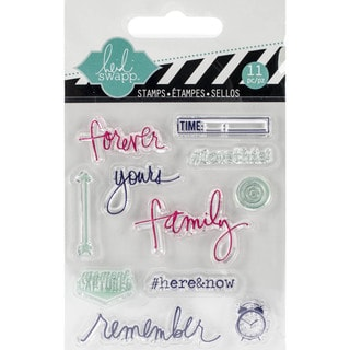 "Heidi Swapp Mixed Media Clear Mini Stamps 3""X3.5""-Remember"