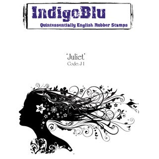 "IndigoBlu Cling Mounted Stamp 5""X3""-Juliet"
