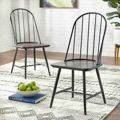 Simple Living Milo Mixed Media Dining Chairs (Set of 2)