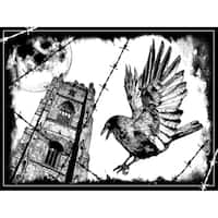 """Crafty Individuals Unmounted Rubber Stamp 4.75""""X7"""" Pkg-The Crow"""