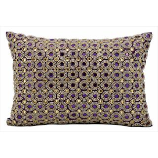 kathy ireland Marble Beads Purple Throw Pillow (10-inch x 14-inch) by Nourison