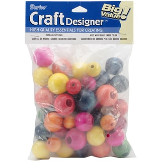 Assorted Large Wood Beads 45/Pkg-Fashion