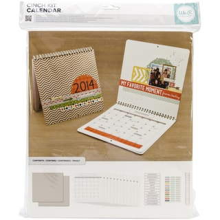 "Cinch Calendar Kit 12.5""X13.25""-Covers, Pages & Wire"