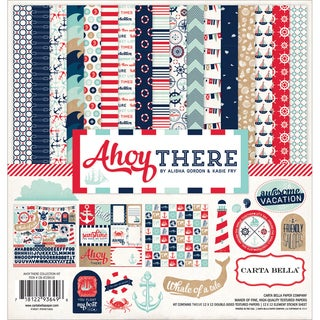 "Carta Bella Collection Kit 12""X12""-Ahoy There"