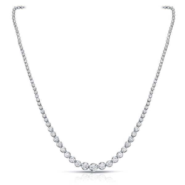 d23709da82bfa Shop Auriya 13 carat TDW Graduating Diamond Riviera Tennis Necklace ...