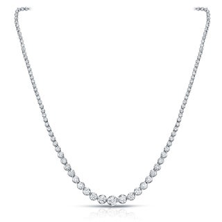 Auriya 18k White Gold 13ct TDW Diamond Riviera Graduating Tennis Necklace (H-I, VS1-VS2)