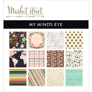"My Mind's Eye Paper Pad 6""X6"" 24/Pkg-Market Street Ashbury Heights"