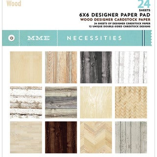 "My Mind's Eye Paper Pad 6""X6"" 24/Pkg-Necessities/Wood"