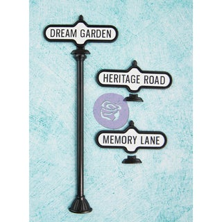 Shabby Chic Treasures Metal-Antique Street Signs 3/Pkg