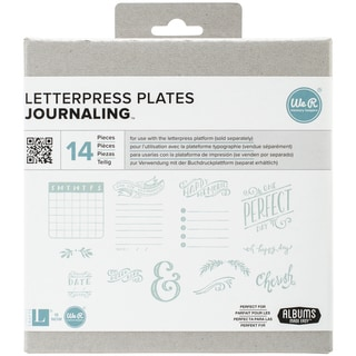 Lifestyle Letterpress Plates-Journaling