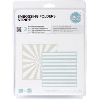 "Goosebumpz 6""X6"" Embossing Folder 2/Pkg-Stripe"