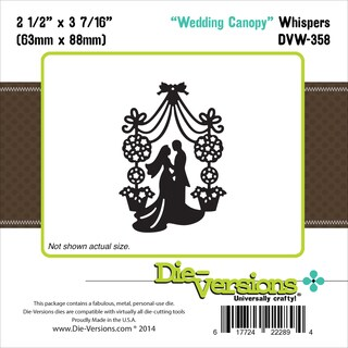 "Die-Versions Whispers Die-Wedding Canopy 2.5""X3.437"""