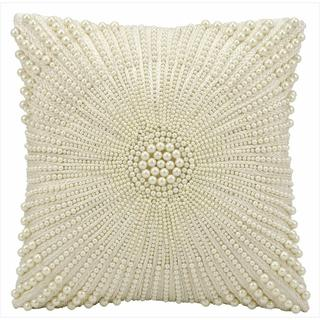 kathy ireland Burst Of Pearls Ivory Throw Pillow (12-inch x 12-inch) by Nourison