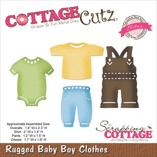 CottageCutz Elites Die-Rugged Baby Boy Clothes