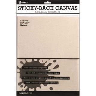 "Inkssentials Surfaces Sticky Backed Natural Canvas-8.5""X11"""