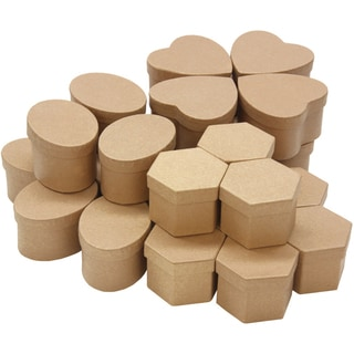 Paper-Mache Boxes Classpack 24pc Assortment-8 Each Of 3 Styles