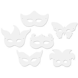 Paper Mardi Gras Masks 24/Pkg-Assorted Shapes