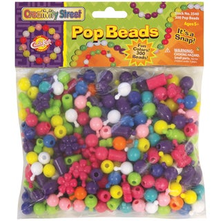 Pop Beads 300/Pkg-Assorted Sizes & Shapes