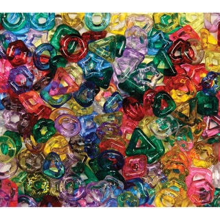 Stringing Ring Beads 220/Pkg-Assorted Translucent Shapes