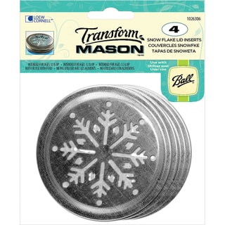 Transform Mason Ball Lid Inserts 4/Pkg-Snowflake