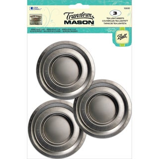 Transform Mason Ball Lid Inserts 3/Pkg-Tea Light