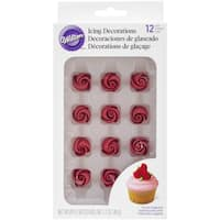 Icing Decorations 12/Pkg-Roses