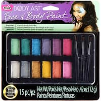 Tulip Body Art Paint Palette 15pc-Shimmer