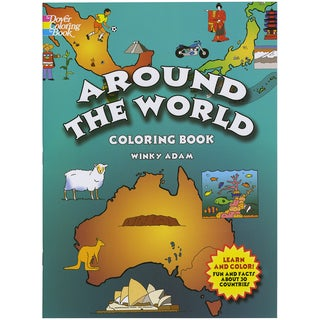 Dover Publications-Around The World Coloring Book