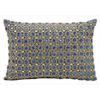 kathy ireland Marble Beads Sapphire Throw Pillow (10-inch x 14-inch) by Nourison