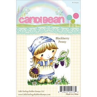 """CandiBean Cling Mounted Rubber Stamp 3.25""""X2.883""""-Blackberry Penny"""